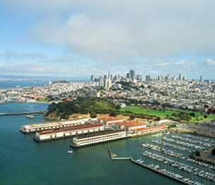 Aerial view of San Francisco